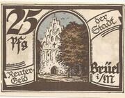 25 Pfennig (Brüel) – avers