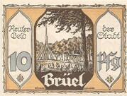 10 Pfennig (Brüel) – avers