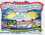 25 Pfennig (Laage) – avers