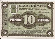 10 Pfennig (Dömitz; Sparkasse) – avers