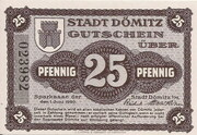 25 Pfennig (Dömitz; Sparkasse) – avers