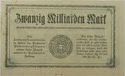 20,000,000,000 Mark (Mecklenburg-Schwerin) – revers