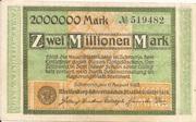 2,000,000 Mark (Mecklenburg-Schwerinsches Staatsministerium) – avers