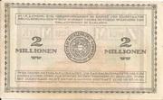 2,000,000 Mark (Mecklenburg-Schwerinsches Staatsministerium) – revers