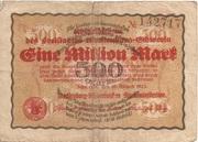 1,000,000 Mark (Mecklenburg-Schwerinsches Staatsministerium) – avers