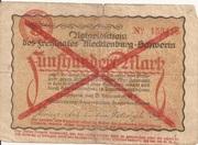 1,000,000 Mark (Mecklenburg-Schwerinsches Staatsministerium) – revers