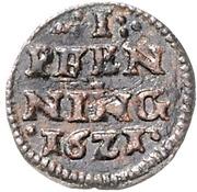 1 Pfennig - Johann Albrecht II. – revers