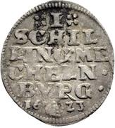 1 Schilling - Johann Albrecht II. – revers