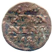 2 pfennig Johann Albrecht II – revers
