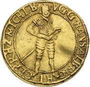 1 Ducat - Johann Albrecht II. – avers