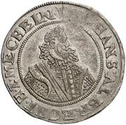 ½ Thaler - Johann Albrecht II. – avers