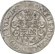 ½ Thaler - Johann Albrecht II. – revers