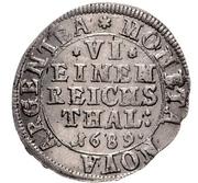 ⅙ Thaler - Gustav Adolf – revers