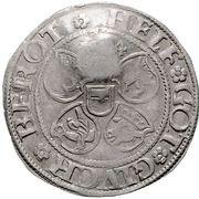 1 doppelschilling Albrecht VII – revers