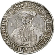 1 Thaler - Johann Albrecht I. – avers