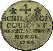 4 schilling Friedrich Franz I – revers