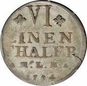 ⅙ Thaler - Christian Ludwig II – revers
