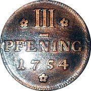 3 Pfenninge - Christian Ludwig II – revers