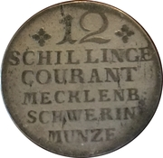 12 schilling courant - Friedrich II – revers