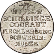 32 schilling courant - Friedrich II – revers