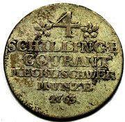 4 schilling courant Friedrich II. – revers