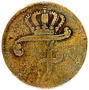 6 pfennig Friedrich II. – avers