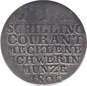 1 schilling courant - Friedrich Franz I – revers