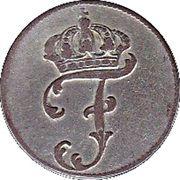 1 schilling courant - Friedrich II – avers