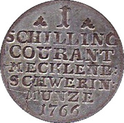 1 schilling courant - Friedrich II – revers