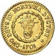 ¼ ducat Friedrich Wilhelm – revers