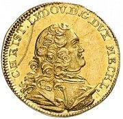 ¼ ducat Christian Ludwig II – avers