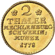 2 thaler Friedrich – revers