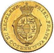 2 thaler Friedrich Franz I – avers