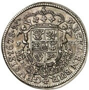 ⅔ thaler Christian I. Ludwig (Piedfort) – revers