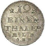 1/12 thaler Christian Ludwig II – revers