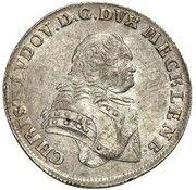 ⅙ thaler Christian Ludwig II – avers