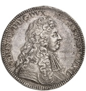 2 thaler Christian I Ludwig – avers
