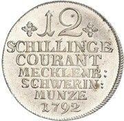 12 schilling courant Friedrich Franz I – revers