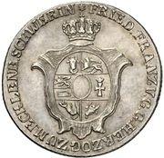 ⅔ thaler Friedrich Franz I – avers