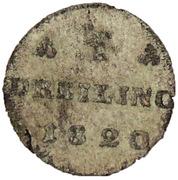 1 dreiling Friedrich Franz I – revers