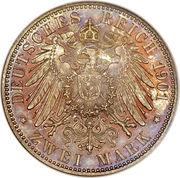 2 Mark - Friedrich Franz IV – revers