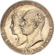 2 Mark - Friedrich Franz IV (Mariage avec la princesse Alexandra de Hanovre) – avers