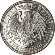 3 Mark - Friedrich Franz IV (Centenaire du Grand-duché de Mecklenburg-Schwerin) – revers