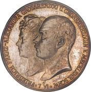 5 Mark - Friedrich Franz IV (Mariage avec la princesse Alexandra de Hanovre) – avers