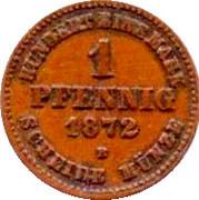 1 Pfennig - Friedrich Franz II – revers