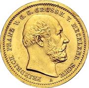 10 Mark - Friedrich Franz II – avers
