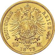 10 Mark - Friedrich Franz II – revers