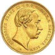 10 Mark - Friedrich Franz III – avers