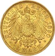 10 Mark - Friedrich Franz III – revers