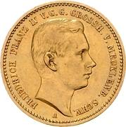 10 Mark - Friedrich Franz IV – avers